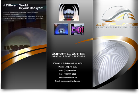 Airflate Party Brochure Design