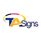 TA Signs Advertising Logo Design